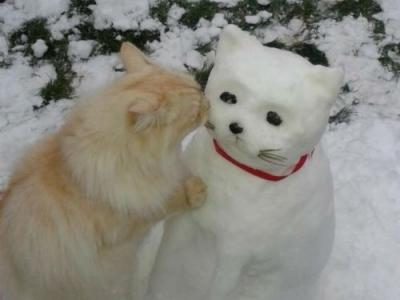 Зима и прикольные снеговики