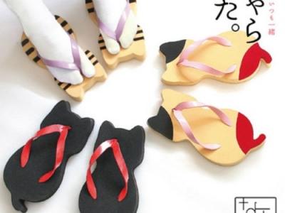 Сандалии в форме котиков, новый тренд в Японии